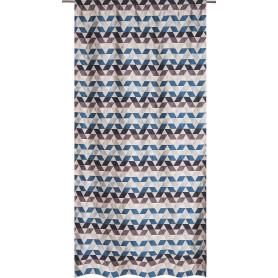 Штора на ленте «Охара» 140х280 см цвет синий