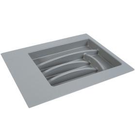 Лоток для столовых приборов 340 мм, пластик, цвет серый
