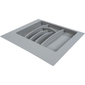 Лоток для столовых приборов 600 мм, пластик, цвет серый