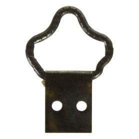 Петля-подвес корона-кольцо для картины, фоторамки, бронза