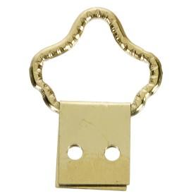 Петля-подвес корона-кольцо для картины, фоторамки, латунированная сталь