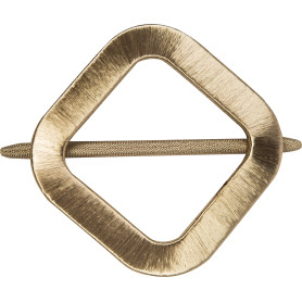 Заколка для штор «Квадрат» 14.5х14.5 см цвет золотой