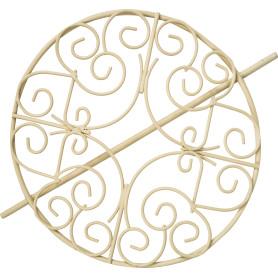 Заколка для штор «Ребека» 17 см цвет слоновой кости