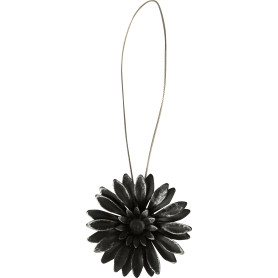 Подхват магнитный «Эстер» 6х29 см цвет чёрный/серебристый