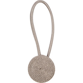 Подхват магнитный «Розетта» 6.2х40 см цвет серый