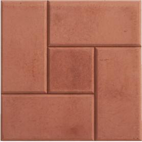 Плитка тротуарная «Калифорния» 300х300х30 мм цвет красный