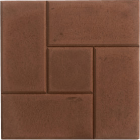 Плитка тротуарная «Калиф» 300х300х30 мм цвет коричневый