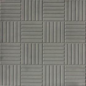 Плитка тротуарная «Паркет» 300х300х30 мм цвет серый