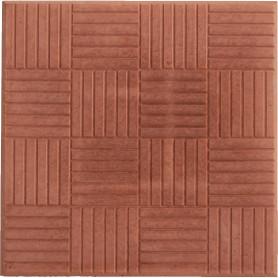 Плитка тротуарная «Паркет» 300х300х30 мм цвет красный