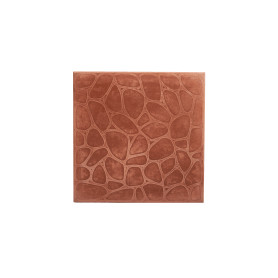 Плитка тротуарная «Галька» 400х400х50 мм цвет красный