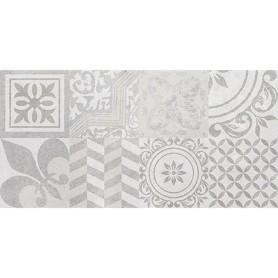 Плитка наcтенная Bastion 20х40 см 1.2 м2 цвет серый с орнаментом