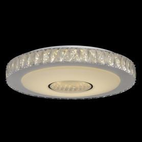 Люстра хрустальная потолочная светодиодная «Фризанте» с пультом управления, 14 м2, регулируемый белый свет, цвет белый