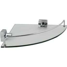 Полка для ванной комнаты Sensea «Kvadro» цвет хром