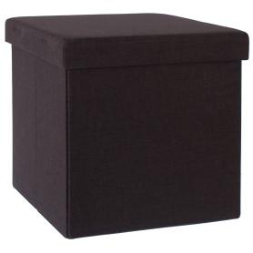 Пуф складной с отделением для хранения, 38x38x38 см, цвет коричневый