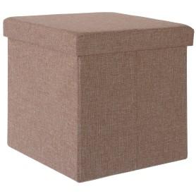 Пуф складной с отделением для хранения, 38x38x38 см, цвет бежевый