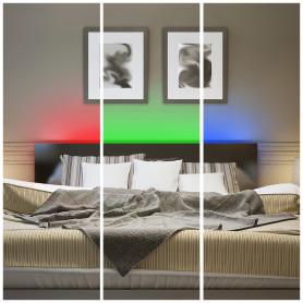 Комплект светодиодной ленты для контурной подсветки SMD 5050 30 диод/360 Лм/6 Вт/м 12 В IP20 5 м RGB