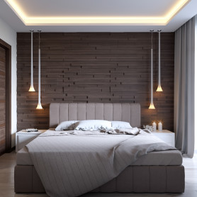 Светодиодная лента на потолок SMD 2835 120 диод/1800 Лм/14.4 Вт/м 12 В IP20 5 м тёплый белый свет