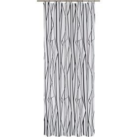 Штора на ленте «Геометрия» 140х260 см цвет бело-чёрный
