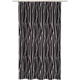 Штора на ленте «Геометрия» 140х260 см цвет чёрно-белый