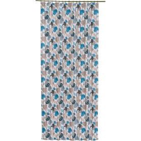Штора на ленте «Аватар» 140х260 см цвет бирюзовый