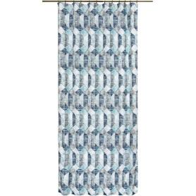 Штора на ленте «Шебби» 140х260 см цвет голубой