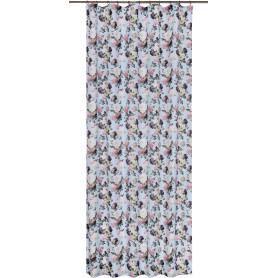 Штора на ленте «Розы» 140х260 см цвет голубой