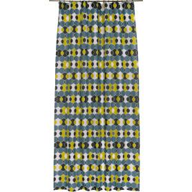 Штора на ленте «Геометрия» 145х260 см цвет бирюзово-жёлтый