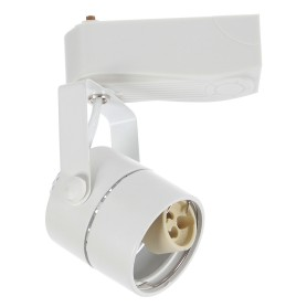 Трековый светильник со сменной лампой GU10 50 Вт 2 м² форма цилиндр цвет белый