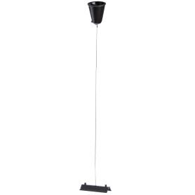 Кронштейн-подвес для трекового шинопровода 1 м, цвет черный