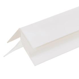Угол ПВХ наружный для панелей 5 мм, 3000 мм, цвет белый