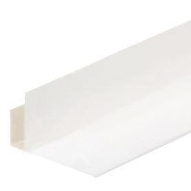 Профиль ПВХ F-образный для панелей 5 мм, 3000 мм, цвет белый
