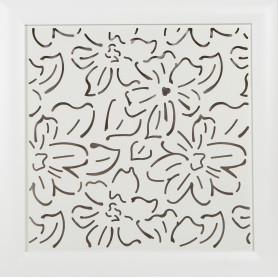 Экран для радиатора Цветы 60х60 см, цвет белый