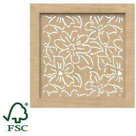 Экран для радиатора Цветы 60х60 см, цвет сонома