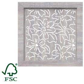Экран для радиатора Цветы 60х60 см, цвет дуб серый
