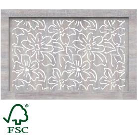 Экран для радиатора Цветы 90х60 см, цвет дуб серый
