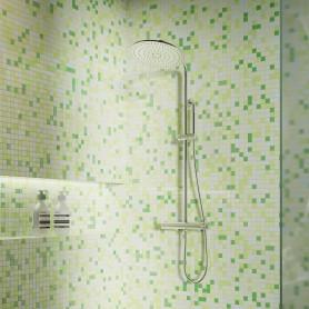 Мозаика Artens Shaker 30х30 см, стекло, цвет зелёный