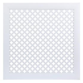 Экран для радиатора Готико 60х60 см, цвет белый