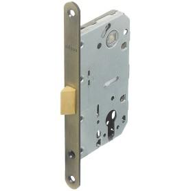 Защёлка под цилиндр EDS-50-85 KEY, с ключом, пластик, цвет бронза