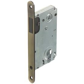 Защёлка под цилиндр магнитная EDS-50-85, с ключом, цвет бронза