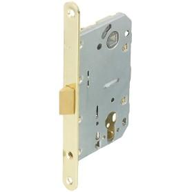 Защёлка под цилиндр EDS-50-85 KEY, с ключом, пластик, цвет золото