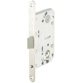 Защёлка под цилиндр EDS-50-85 KEY, с ключом, пластик, цвет никель