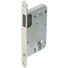 Защёлка под цилиндр магнитная EDS-50-85 KEY, с ключом, пластик, цвет никель