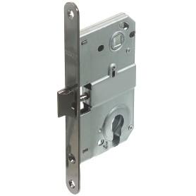 Защёлка под цилиндр EDS-50-85 KEY, с ключом, металл, цвет графит