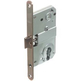 Защёлка под цилиндр EDS-50-85 KEY, с ключом, металл, цвет медь