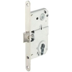 Защёлка под цилиндр EDS-50-85 KEY, с ключом, цвет никель