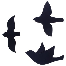 Декор для стен «Птицы», цвет черный