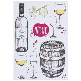 Наклейка «Искусство пить вино» Декоретто