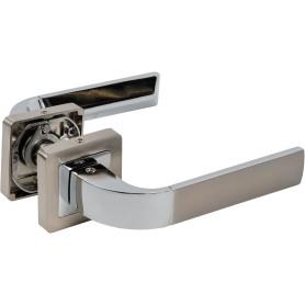 Ручка дверная на розетке ORION QR/HD SN/CP-3, цвет матовый никель/хром