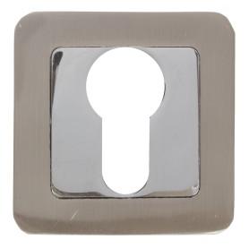 Накладка под цилиндр ET QR SN/CP-3, цвет матовый никель/хром