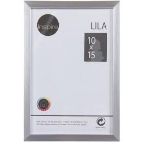 Рамка Inspire «Lila», 10х15 см, цвет серебро